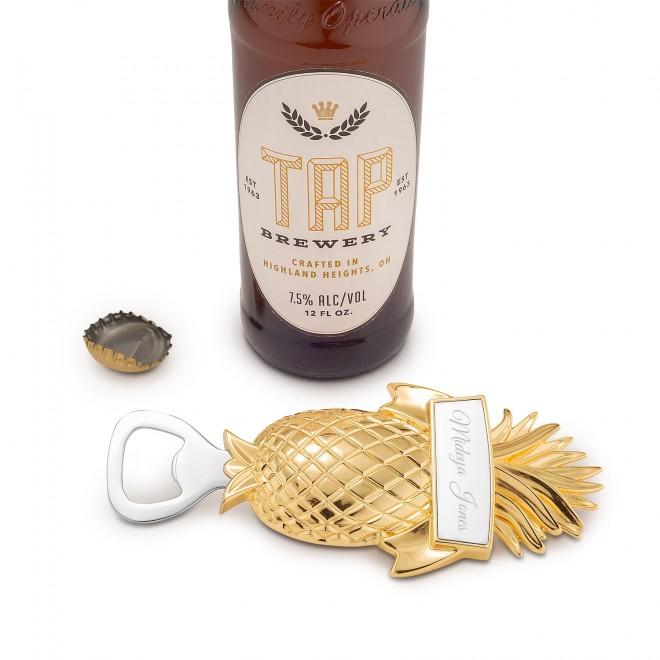 Gold Pineapple Bottle Opener