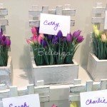 "Mini Flower Tulip Place Card Holders ""Laila"""