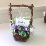 "Mini Faux Spring Flowers in a Basket ""Alea"""