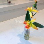 "Faux Orchids in a Glass Vase Favors ""Aiko"""