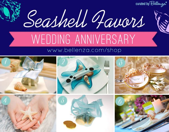 Seashell-inspired Wedding Beach Anniversary Favors!