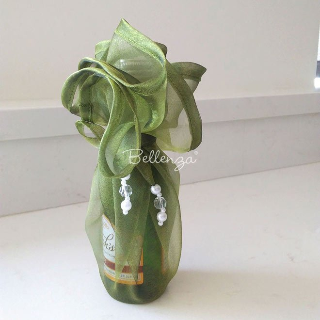 Olive wine bottle wraps