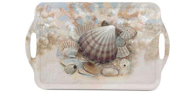 Melamine seashell themed serving tray