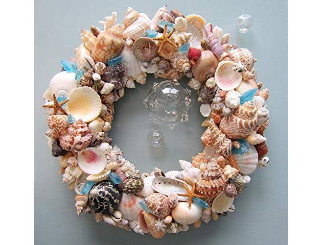 Seashell wreath via Amazon