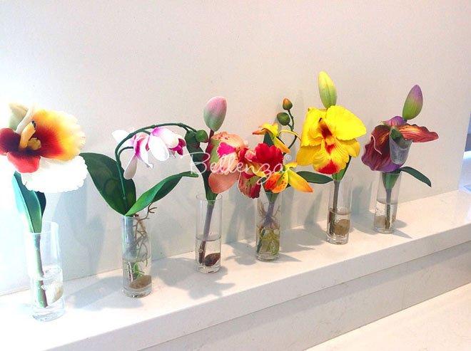 Faux orchid favors