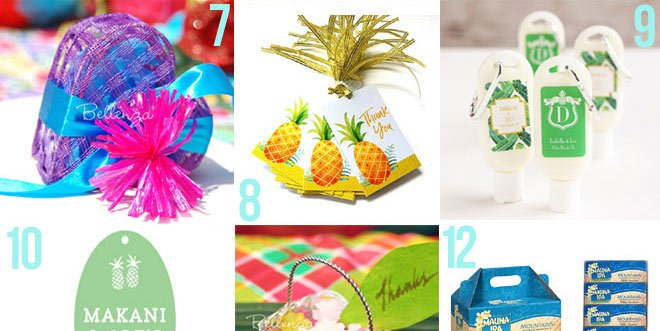 Tropical wedding favors