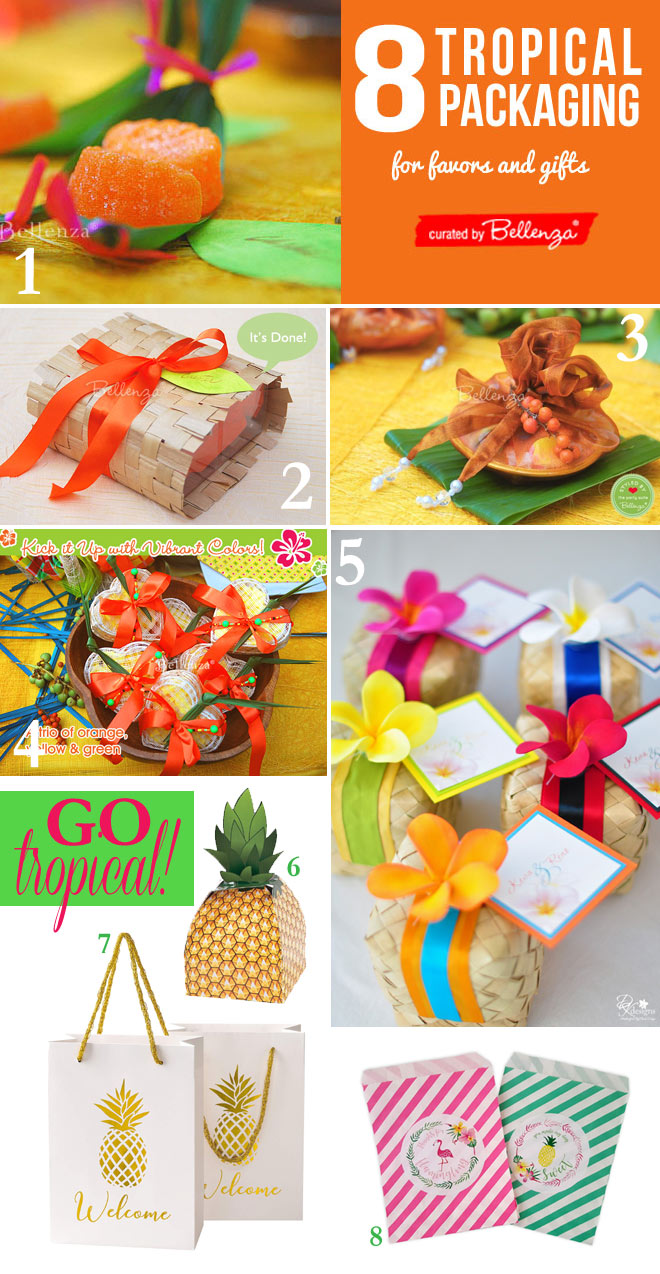Tropical favor packaging ideas