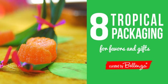 Tropical packaging favor and gift ideas