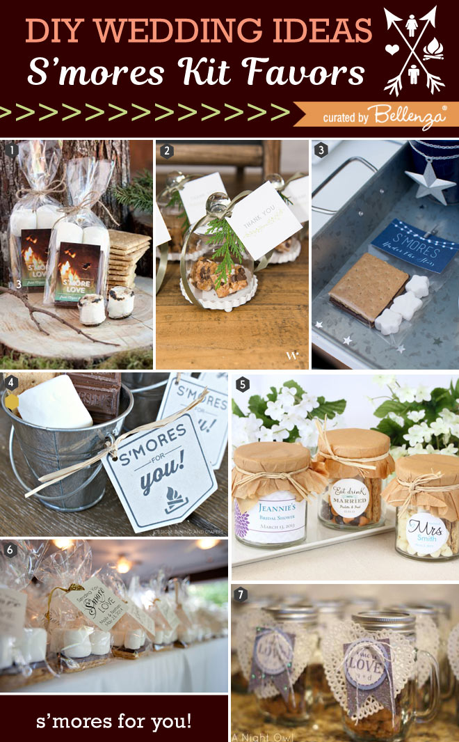 S'mores wedding favor kit ideas