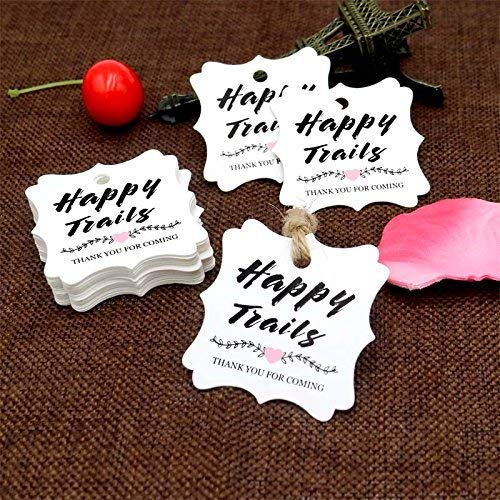happy trails favor tags
