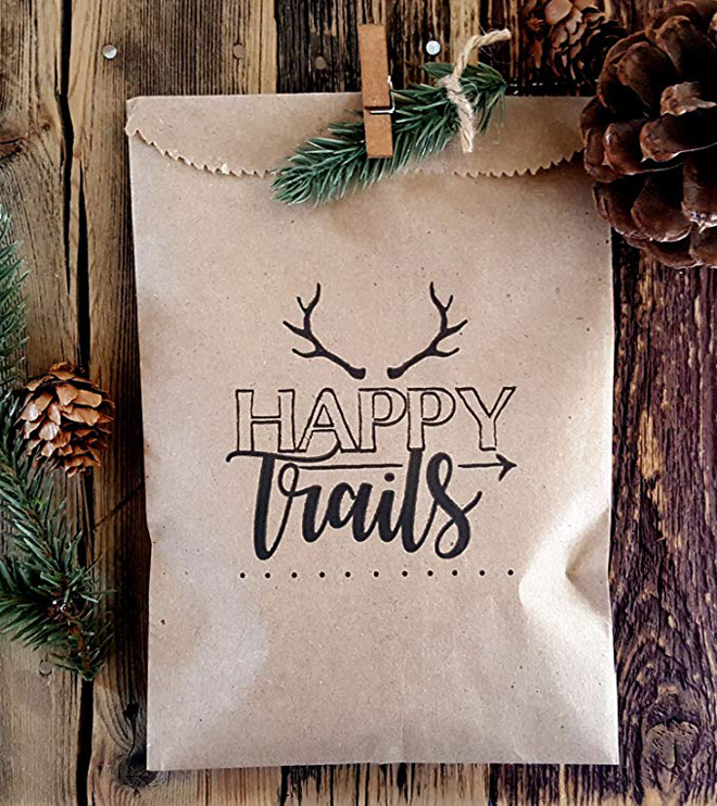 happy trails favor bag