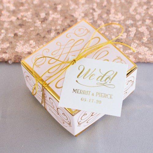 gold foil tags
