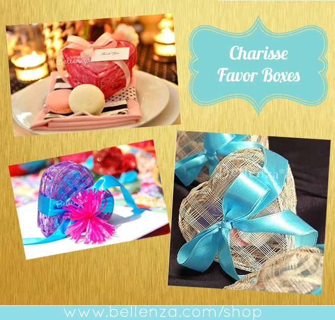 Cajitas de corazón para recuerdos de boda