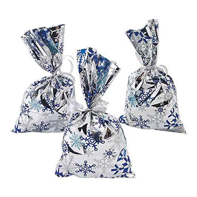 metallic foil favor bag