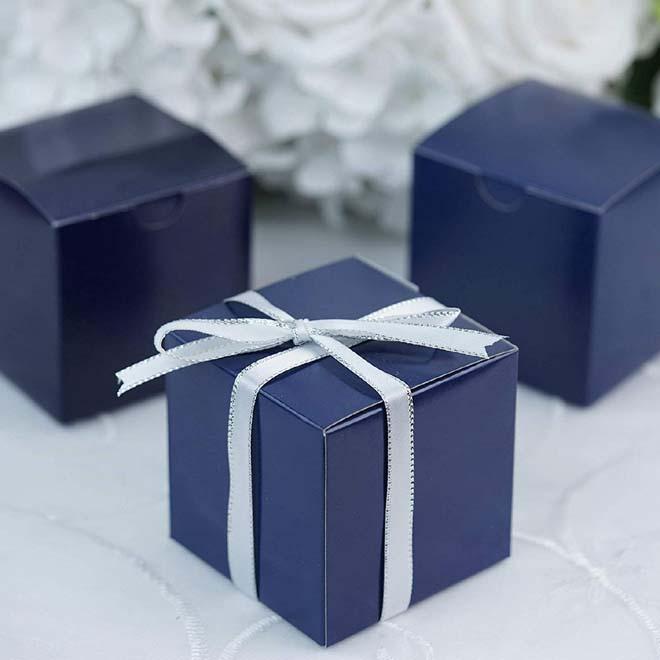 navy blue favor box