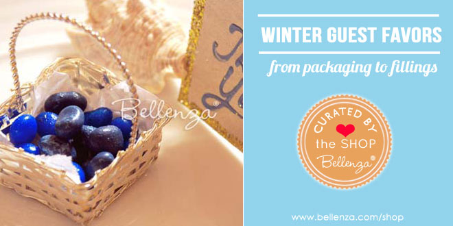 Winter-inspired Favor Bags and Boxes