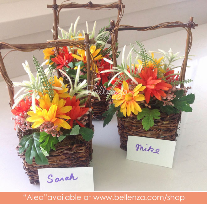 Faux spring mini basket favors