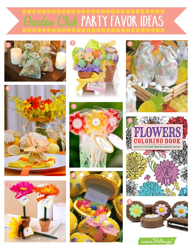 Gardening Club Themed Favors and Gifts