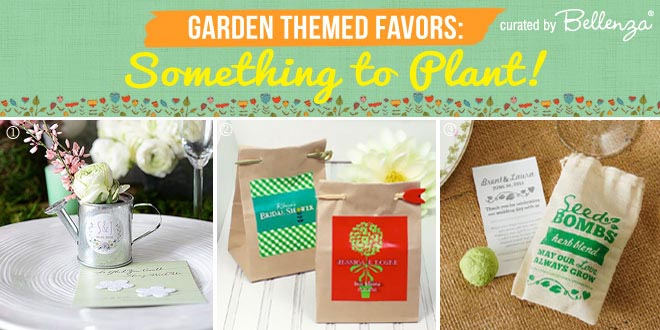 Garden themed favors to plant