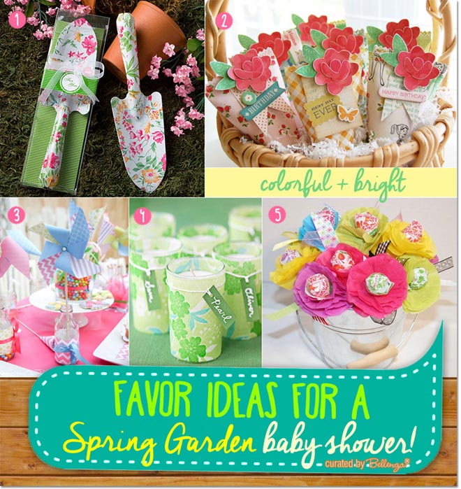 Spring Themed Favors for a Baby Shower