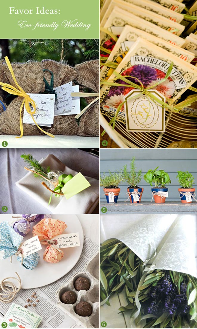 Seeds to potted plant favors