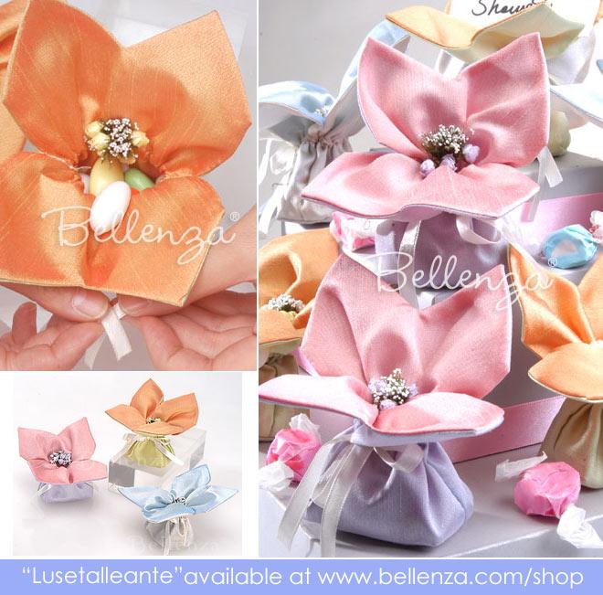 Floral pastel favor bags