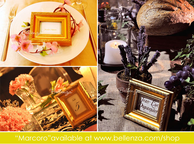 Golden picture frames with gilded edges
