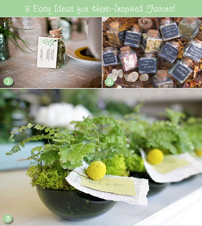 Herb favors for spring birthday favors for adults