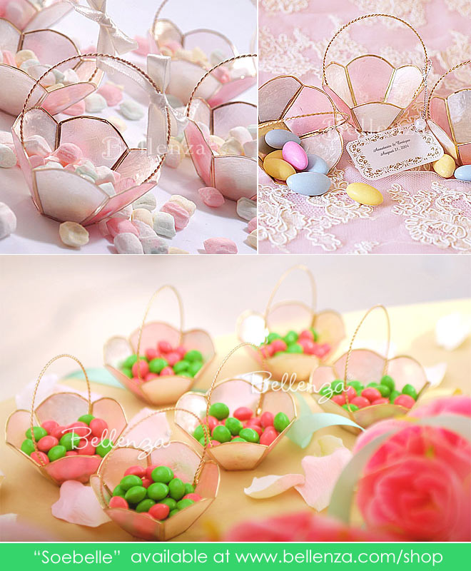 Pink mini baskets