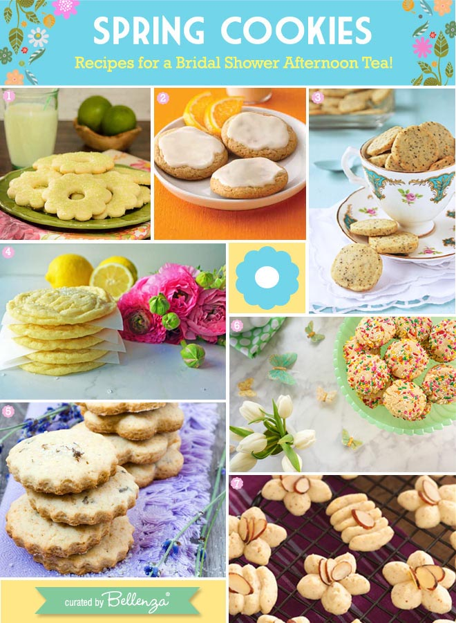 Spring cookies in flower shapes and colors
