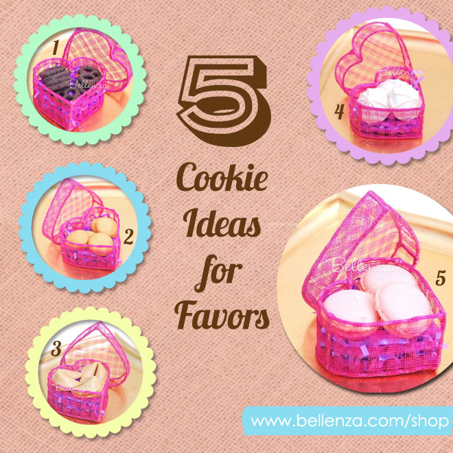 Cookie Ideas for Engagement Party Favors from Macarons to Chocolate Pretzels