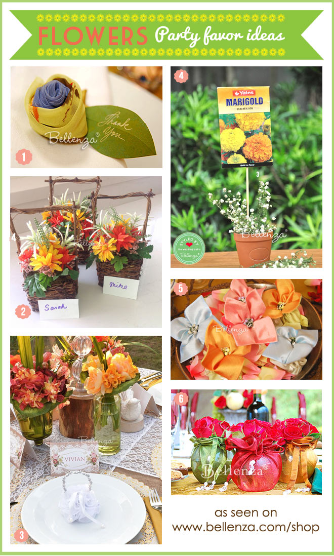 Spring dinner party favors