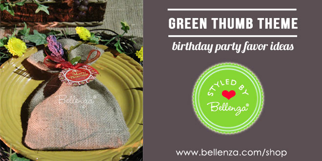 Green thumb birthday party favors