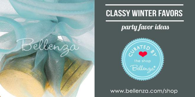 Classy winter wedding favors