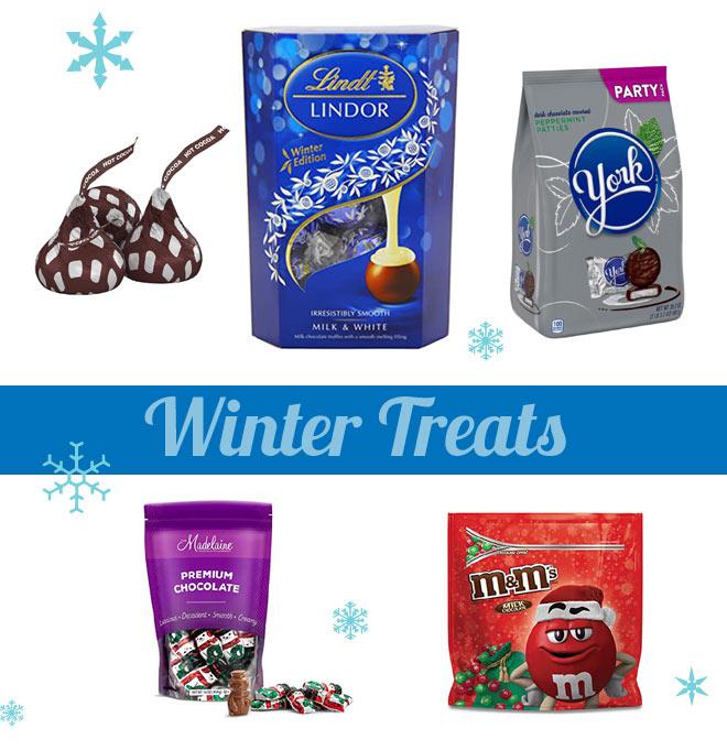 Winter treats in chocolate mints