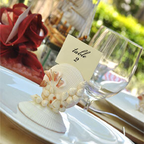 Beach Themed Table Number Holders (set of 4)