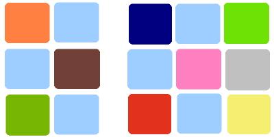 Baby blue color palette