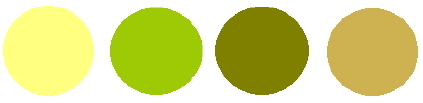 Yellow and chartreuse wedding colors