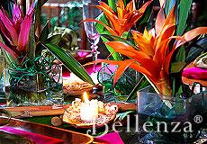 Candlelit setting
