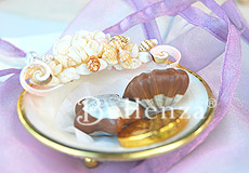 Chocolates in shell trays