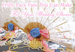 Frilly lace fan project