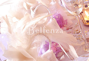 Winter bridal shower with jewels and feathers