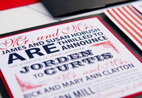 July 4th patriotic wedding invitations