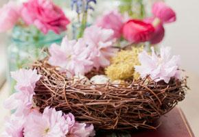 Easter bird's nest centerpiece