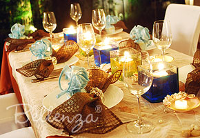Brown wedding table