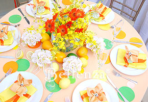 Citrus orange wedding table