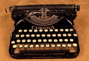 Alternative guestbook typewriter vintage