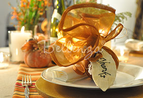 Fall favor with corn husk tags