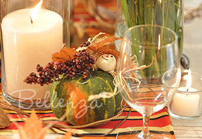 Fall squash table decoration