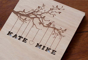 Wooden wedding guestbook